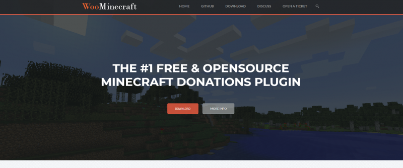 The WooMinecraft.com Site Screenshot